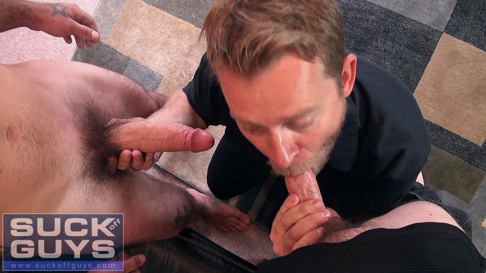 SuckOffGuys-Seth-Chase-Aaron-French-Ethan-Ever-10 Two Amateur Straight Guys Feed their Cum to a Hungry Amateur Cocksucker
