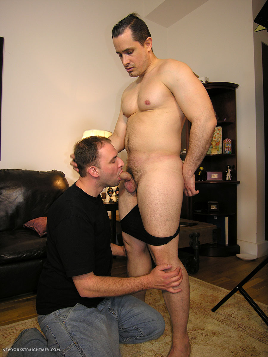 New York Straight Men Anthony and Trey Straight Beefy Muscle Guy Gets Cock Sucking Amateur Gay Porn 02 Beefy Straight Muscle New Yorker Gets His Cock Sucked By A Dude