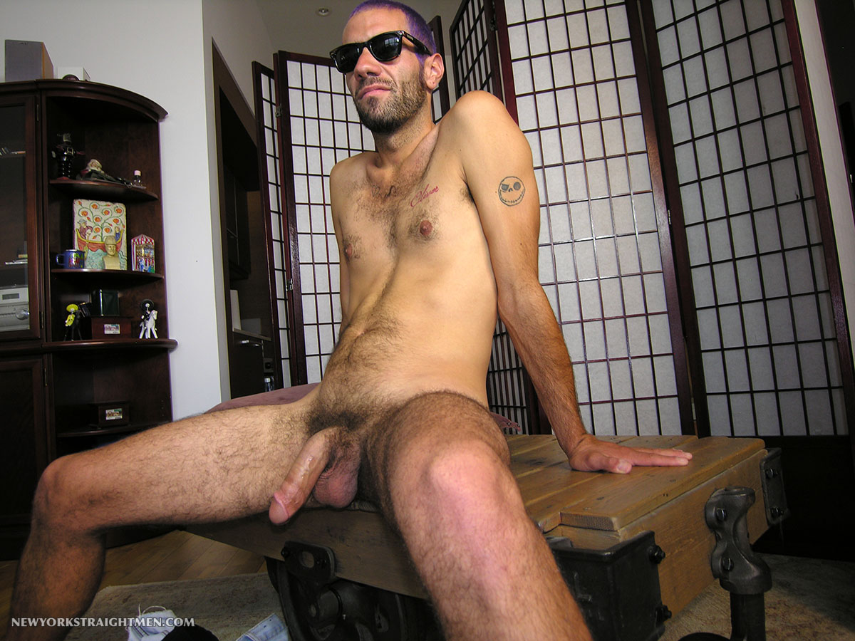 New York Straight Men Straight Hipster Gets His Cock Sucked Amateur Gay Porn 04 Straight NYC Hipster With Hairy Cock Gets His First Blow Job From A Guy