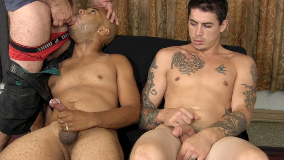 Straight Fraternity Franco Lance and Tommy Interracial Straight Cock Sucking Amateur Gay Porn 25 Two Amateur Straight Fraternity Brothers Shooting Cum With A Gay Guy
