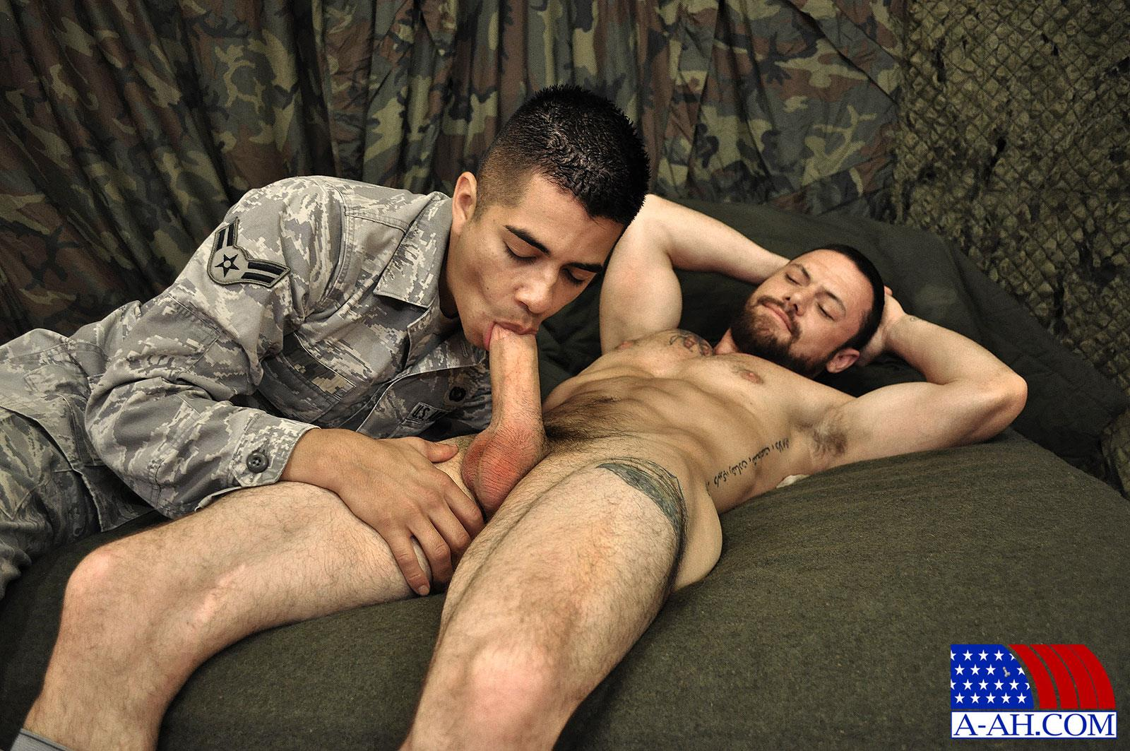 All American Heroes SERGEANT MILES AND AIRMAN FIRST CLASS PAOLO swapping blow jobs and cum Amateur Gay Porn 03 Army Sergeant and an Airman Trade Blow Jobs And Eat Cum