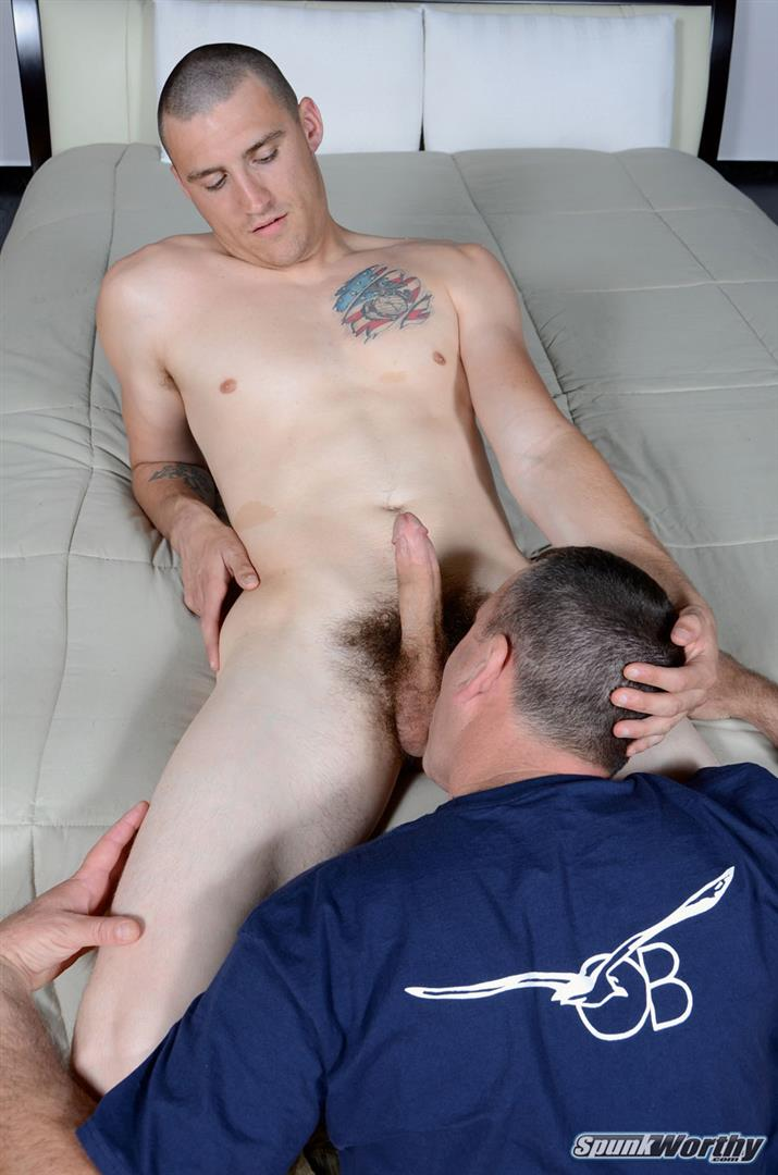 Spunkworthy Ty Bicurious Marine Gets Rimmed and Blow Job Amateur Gay Porn 04 Real Bicurious US Marine Gets Rimmed and Blown