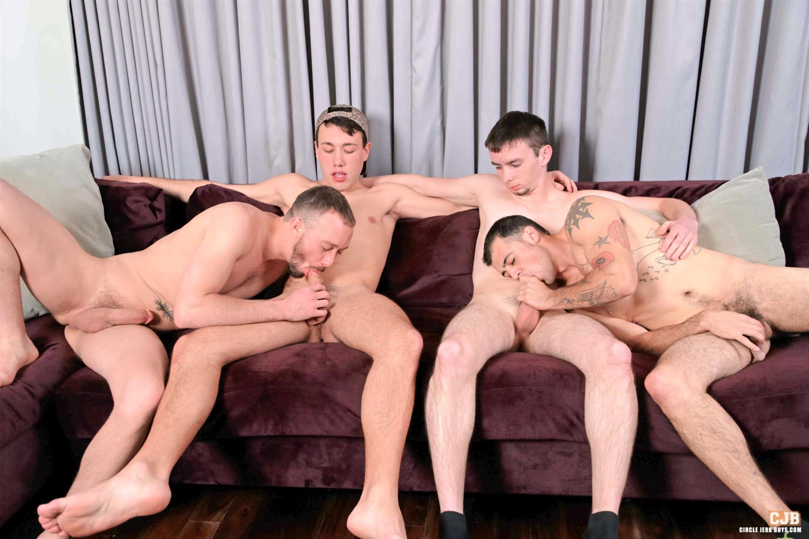 Circle-Jerk-Boys-Kirk-Cummings-and-Trent-Jackson-and-Jake-Jammer-and-Blake-Stone-Cock-Sucking-Young-Guys-Amateur-Gay-Porn-04 4 Hard Cocks, 4 Young Men, 4 Cock Suckers, 4 Loads Of Cum