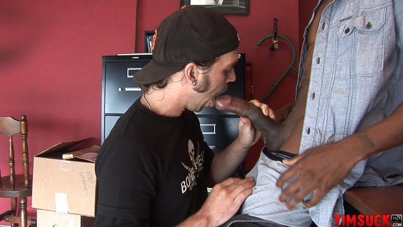 "Treasure-Island-Media-TimSuck-Trevor-and-Javin-Big-Black-Cock-Sucking-Amateur-Gay-Porn-01 White Guy Worshipping A 13"" Black Cock Until It Shoots In His Mouth"