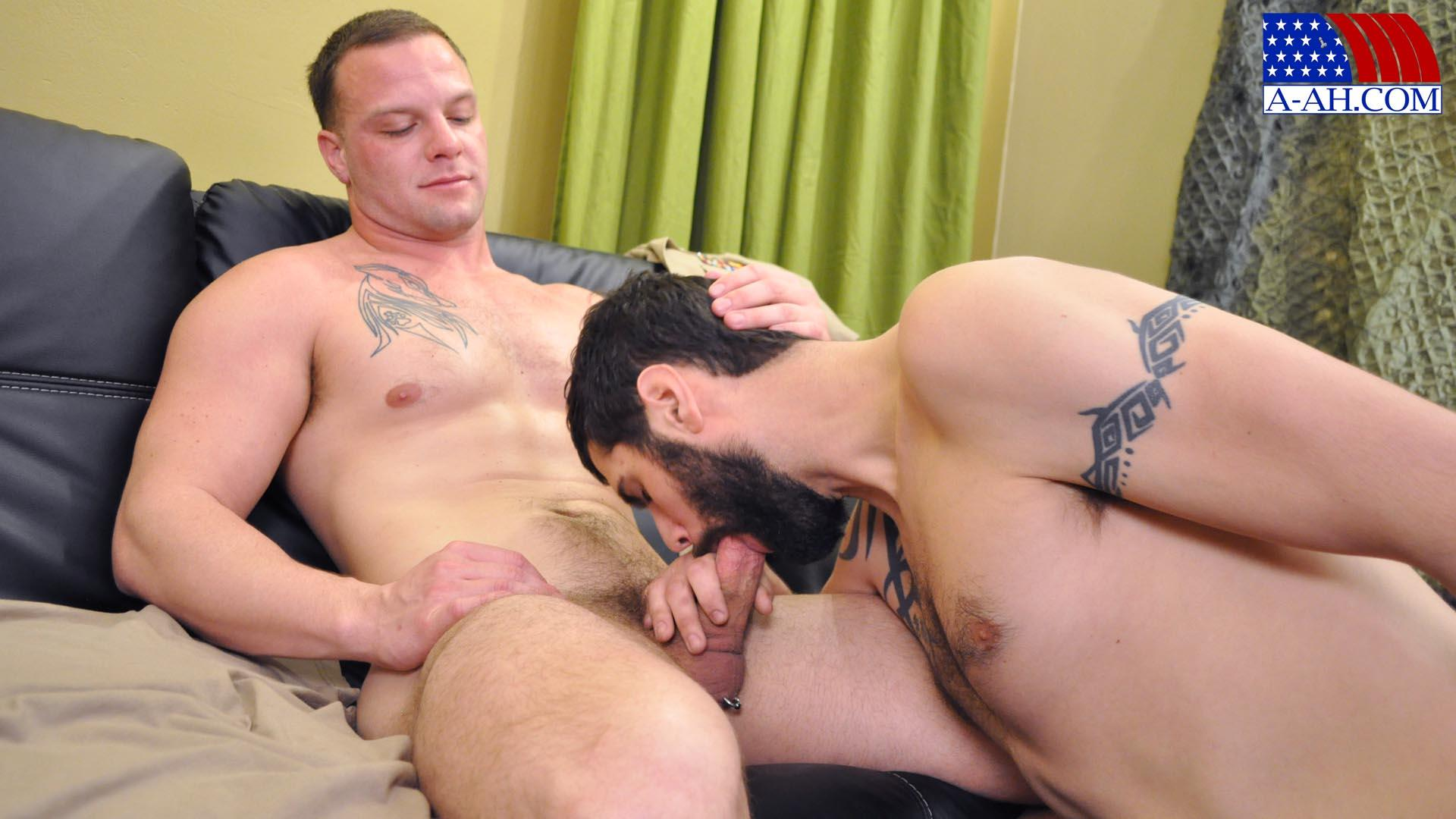 All American Heroes PRIVATE ANTONIO AND NAVY CORPSMAN LOGAN Military Guys Sucking Cock Amateur Gay Porn 10 US Navy Corpsman Trades Blowjobs With A British Army Private