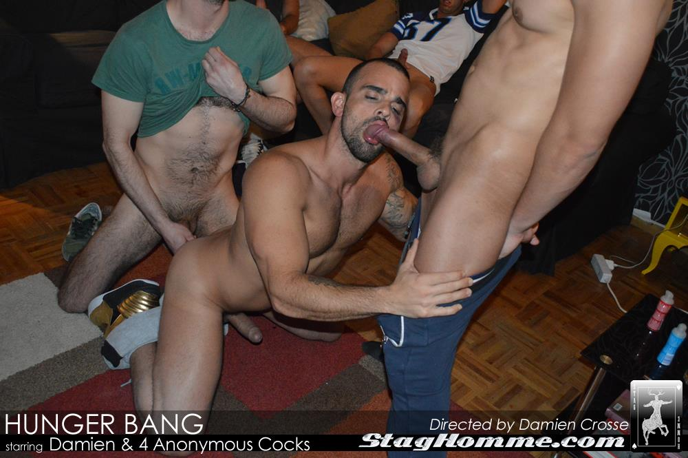 Stag-Homme-Damien-Crosse-Four-Big-Uncut-Cocks-Bukkake-Amateur-Gay-Porn-12 Damien Crosse Gets A Bukkake From Four Anonymous Big Uncut Cocks