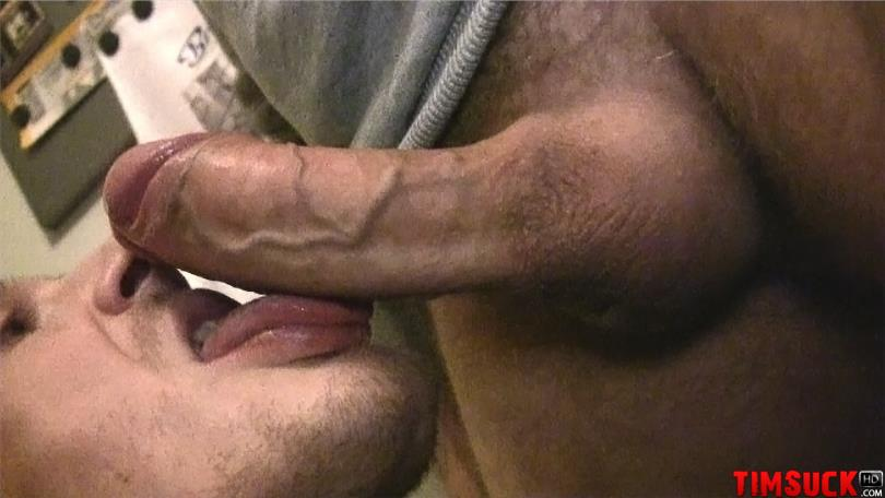 Sucking black uncut cock