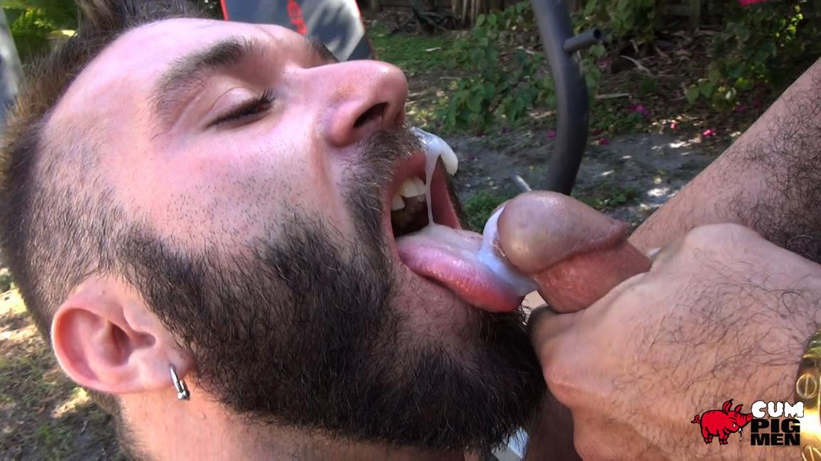 Cum-Pig-Men-Alessio-Romero-and-Ethan-Palmer-Hairy-Muscle-Latino-Daddy-Cocksucking-Amateur-Gay-Porn-24 Hairy Latino Muscle Daddy Gets A Load Sucked Out And Eaten