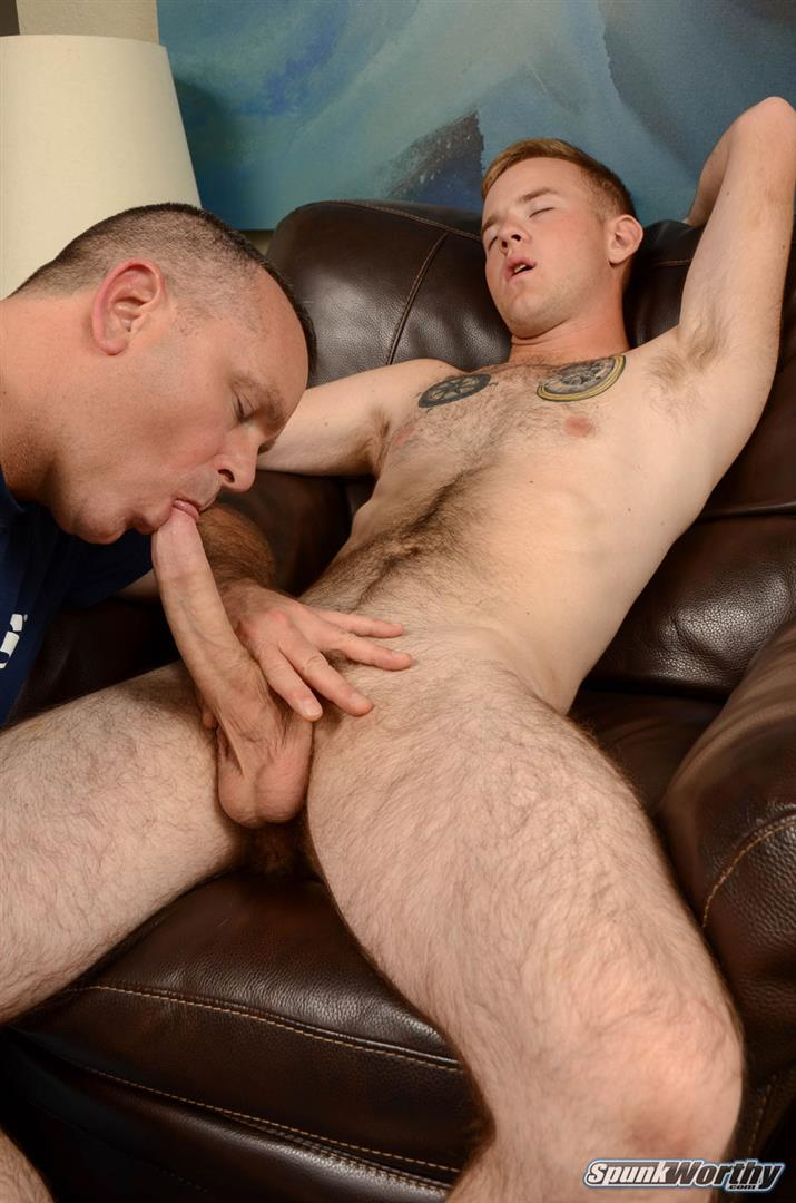 SpunkWorthy Koury Marine Gets A Blow Job and Rimming Amateur Gay Porn 06 Straight Hairy Marine Gets His Big Cock Sucked and Ass Rimmed