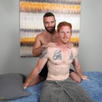 ChaosMen Noah and Aric Naked Redhead Gets Blowjob and Rimming Amateur Gay Porn 02 150x150 Straight Redhead Gets A Massage, Rimming and Blow Job From Another Guy