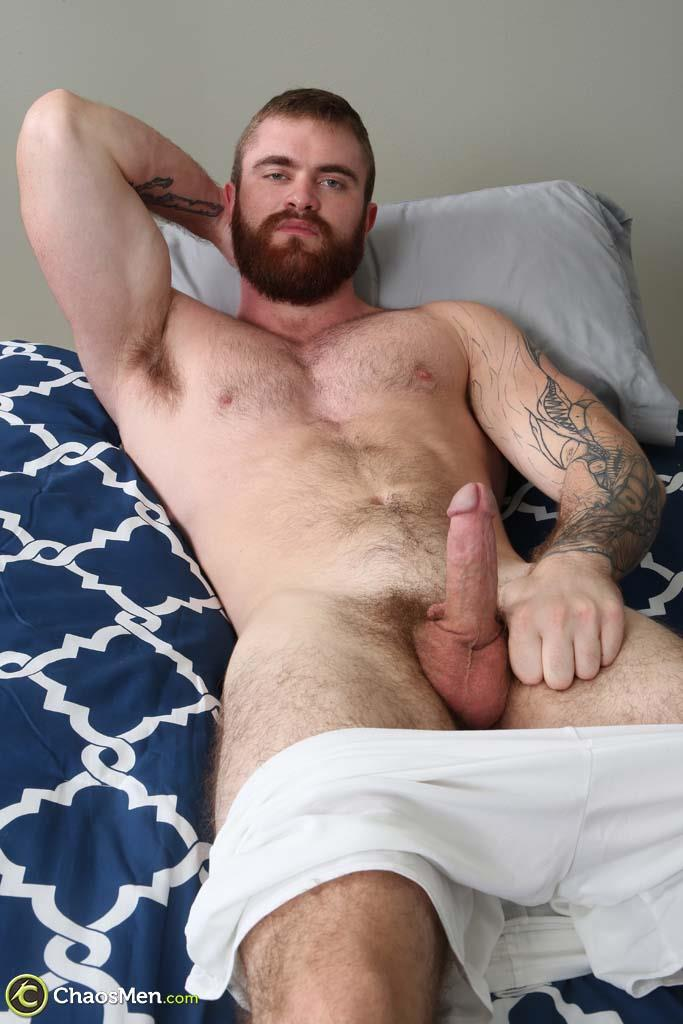 ChaosMen-Casper-and-Lorenzo-Hairy-Muscle-Beard-Cock-Sucked-07 Hairy Muscular Hunk Gets His Big Cock Sucked and Serviced