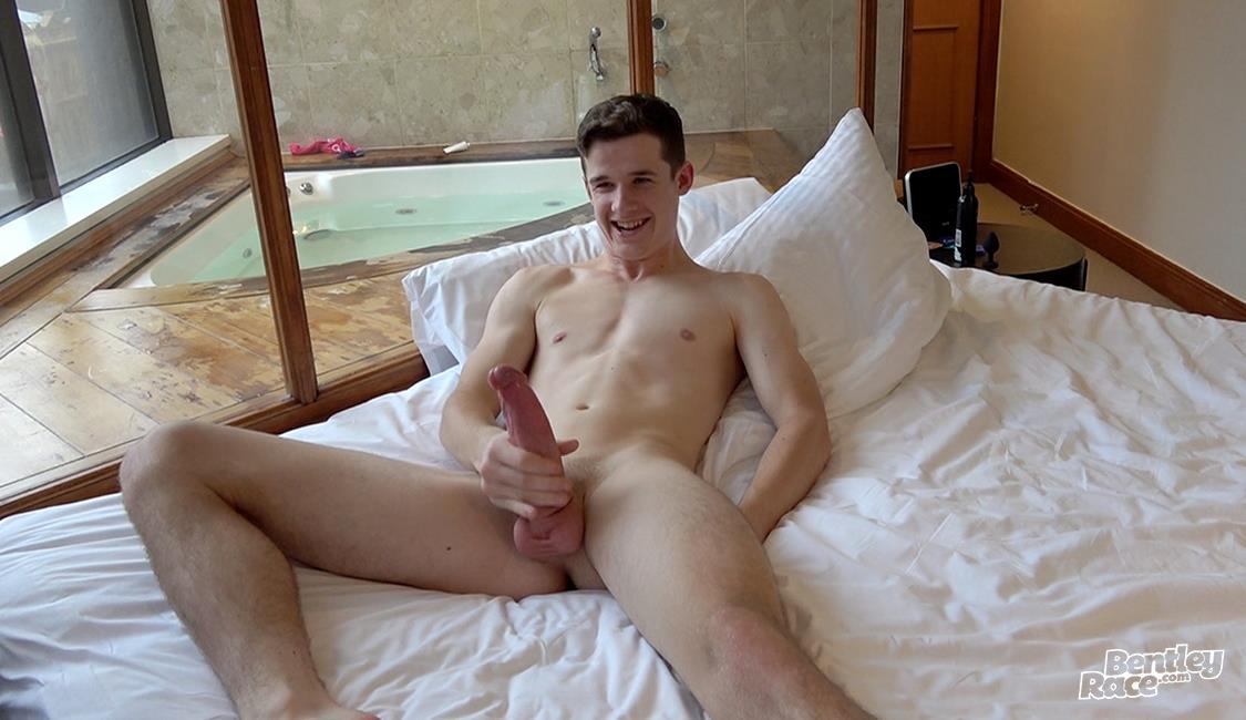 Bentley-Race-Brad-Hunter-Massive-Uncut-Horse-Cock-Jerk-Off-Video-26 20 Year Old Aussie Brad Hunter Shows Off His Massive Uncut Cock