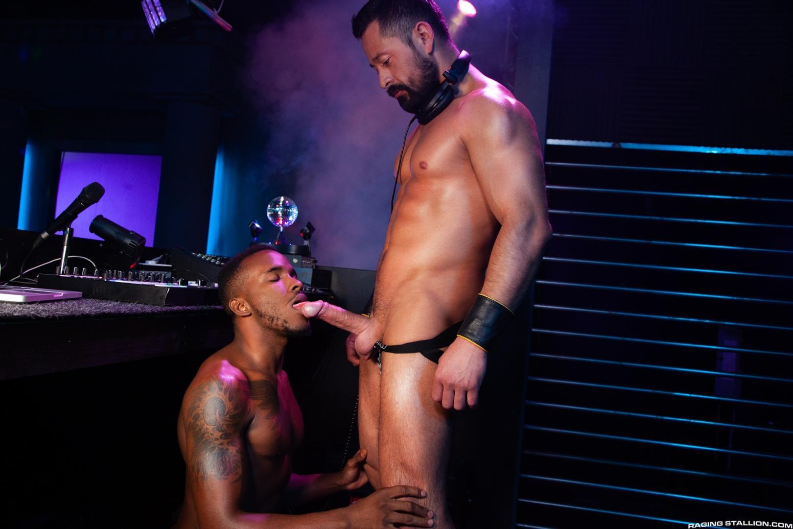 Raging-Stallion-Pheonix-Fellington-and-Cristian-Sam-Big-Black-Cocksucking-Video-08 Getting My Big Black Cock Sucked In The DJ Booth