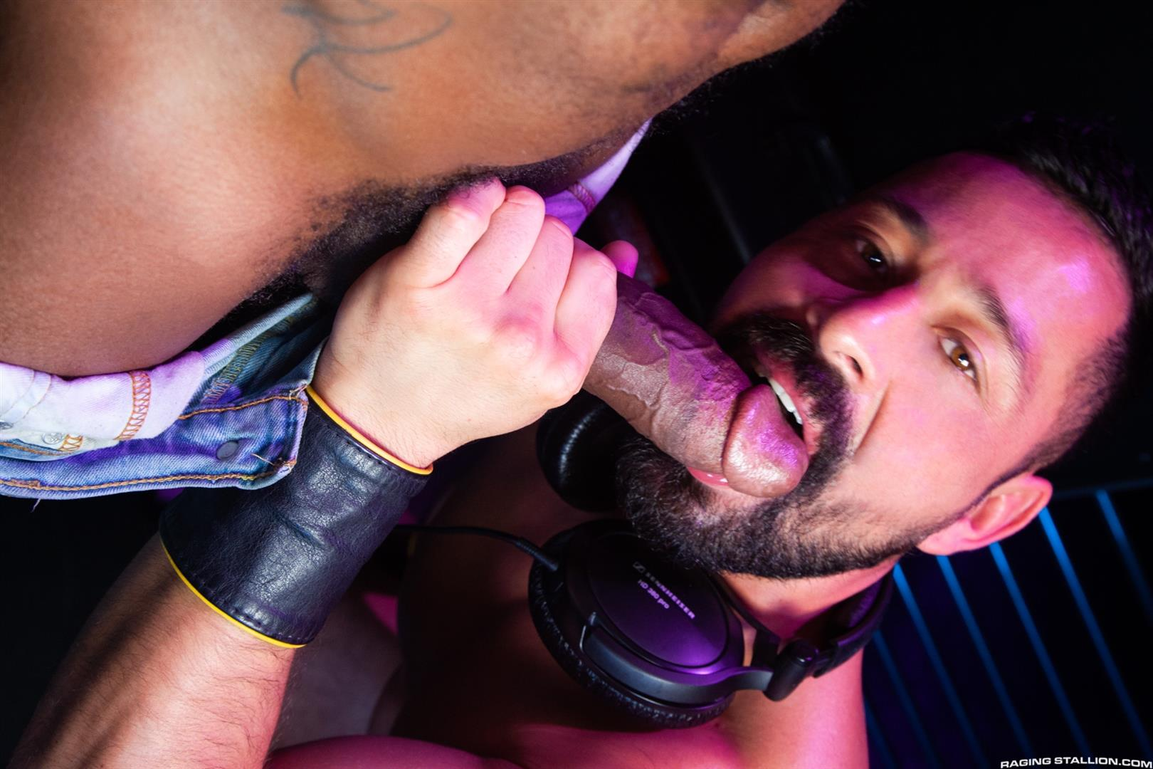 Raging-Stallion-Pheonix-Fellington-and-Cristian-Sam-Big-Black-Cocksucking-Video-11 Getting My Big Black Cock Sucked In The DJ Booth